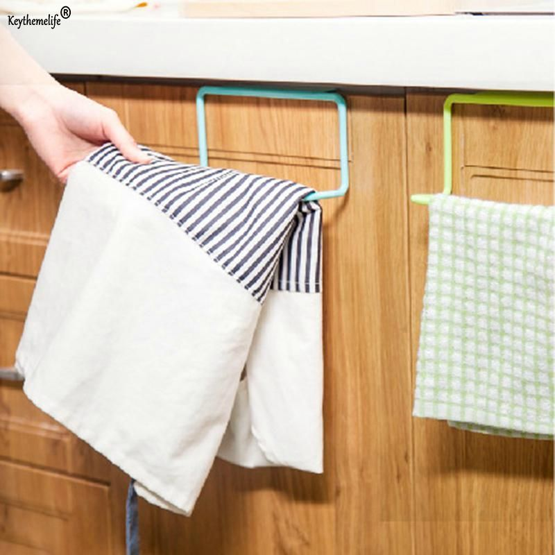 Keythemelife Plastic Towel Bar Holder Over The Kitchen Cabinet Cupboard Door Hanging Rack Storage Holders Accessories C Yesterday S Price Us Cabinet Cupboard