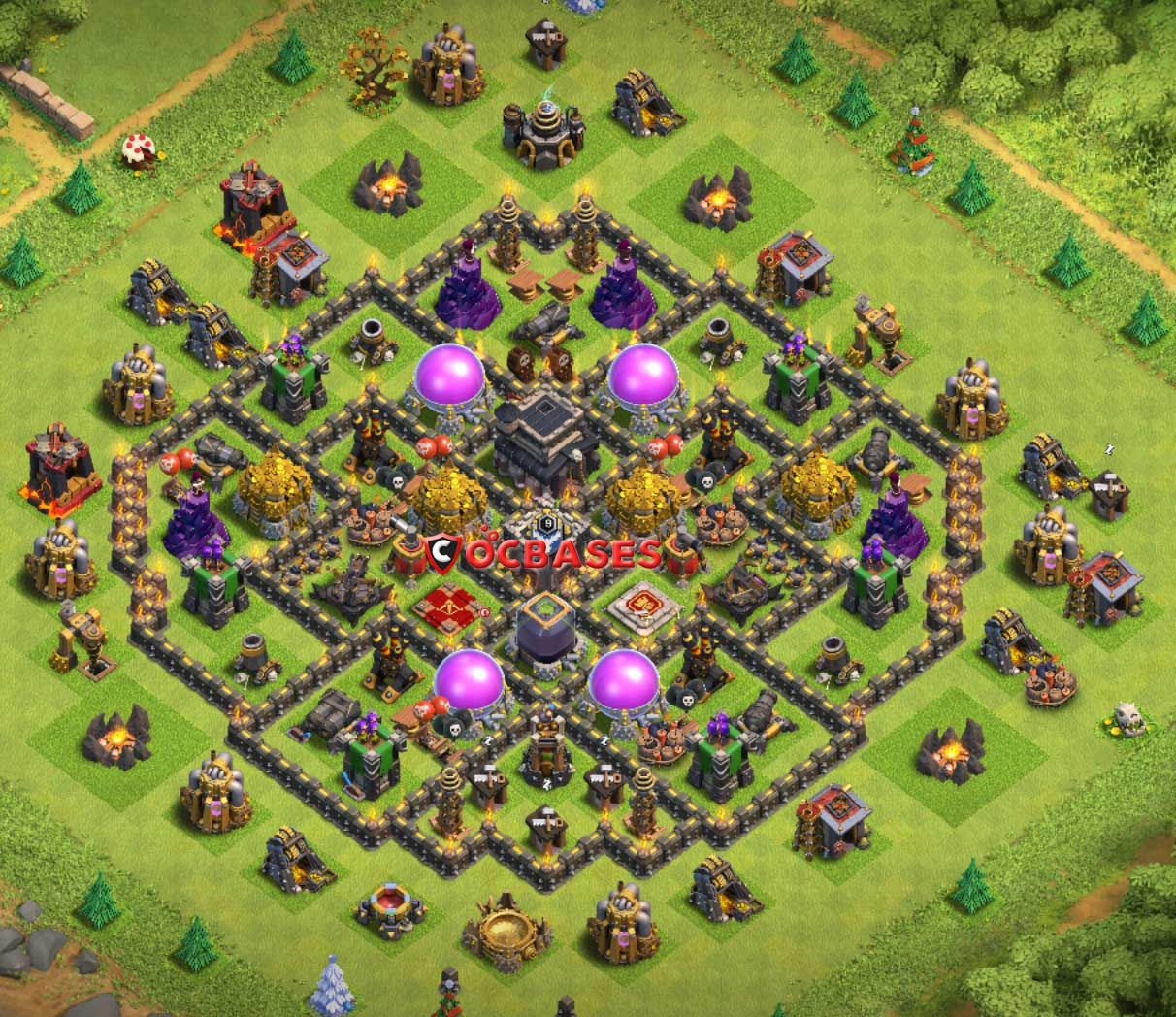 Anti Everything Coc Th9 Farming Base 6