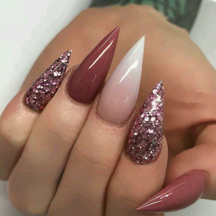 P I N T E R E S T Leyaah Rose Nails Gradient Nails Cute Nails
