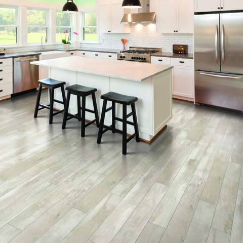 Painted Chestnut Textured Laminate Floor White Chestnut