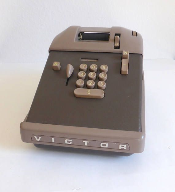 Vintage Victor Adding Machine Calculator 10 Key Punch Desk Vintage Office Vintage Linens Vintage Paper