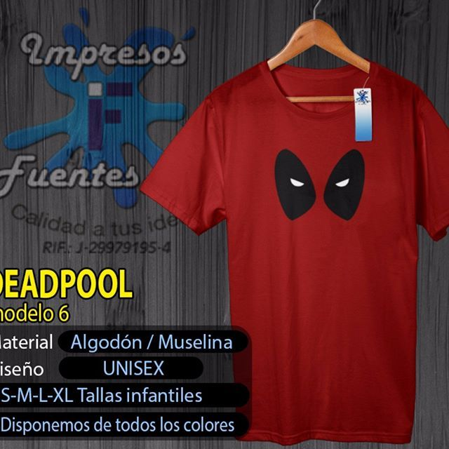 deadpool  hero  superhero  comics  art  impresion  franelas   franelaspersonalizadas  personalizadas  impresiones  deadpoolfans  valencia   carabobo 2857ae38e4bf8
