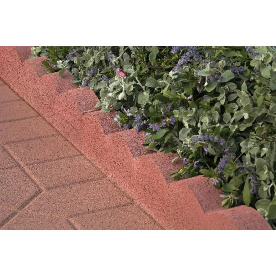 Scalloped Red Straight Edging Stone Common 2 In X 16 In Actual 2 In X 16 In At Lowes Com Edging Stones Brick Garden Edging Brick Garden