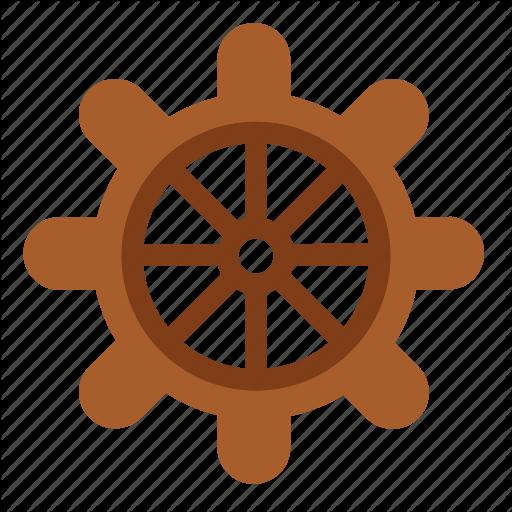 Boat Ship Steering Wheel Summer Transport Icon Download On Iconfinder Summer Icon Icon Steering Wheel