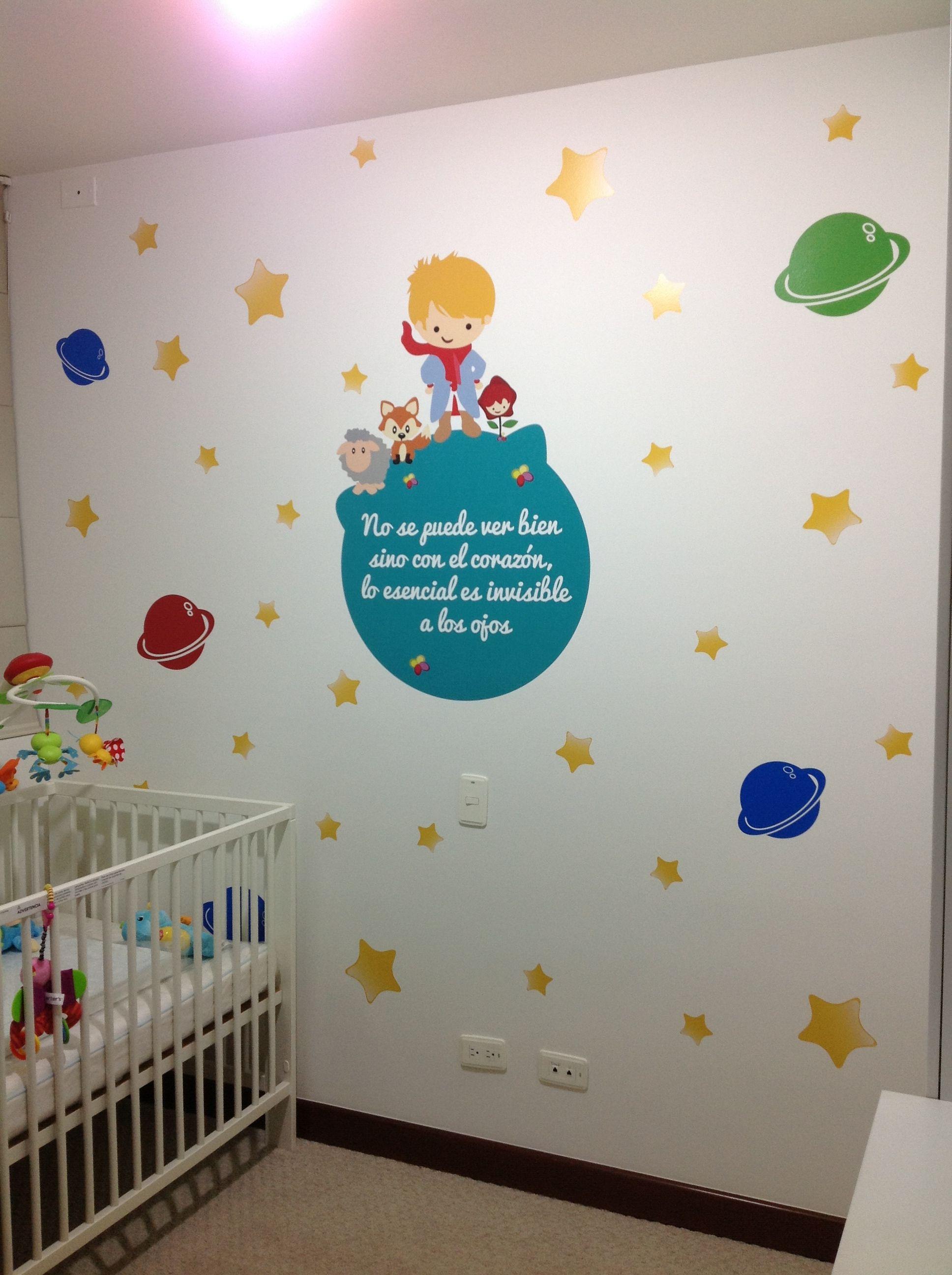 Decoraci n infantil principito vinilosdecorativos clientesfelices espaciosfelices juanpa - Decoracion infantil paredes ...