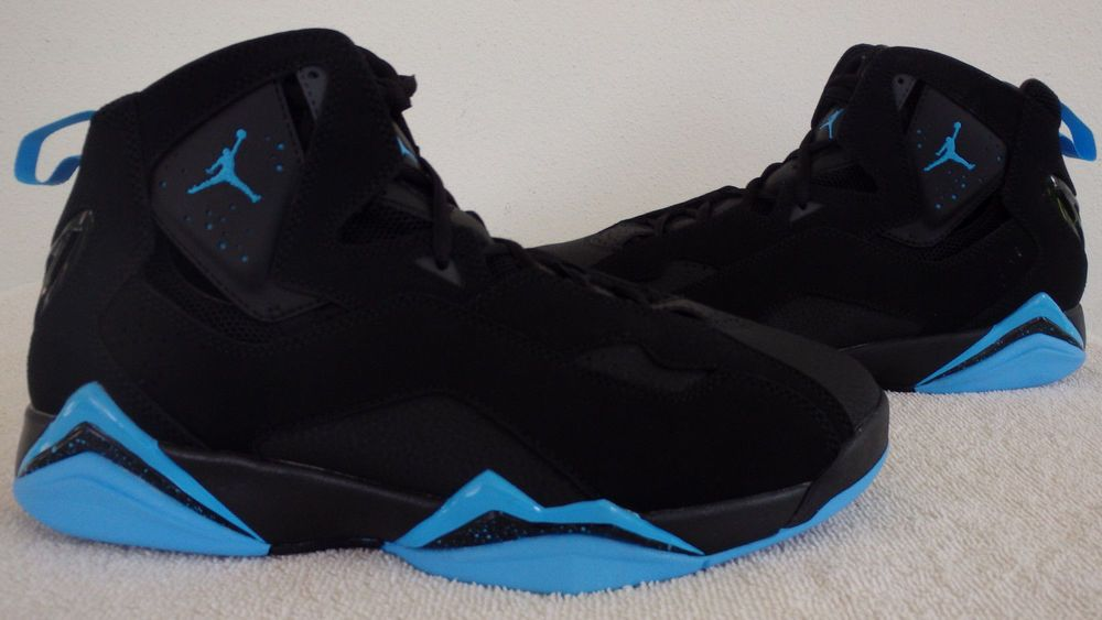 5f8586f718707f  342964-007  Nike Air Jordan 7 True Flight Basketball Shoes New Black Blue  Sz9.5  Nike  BasketballShoes