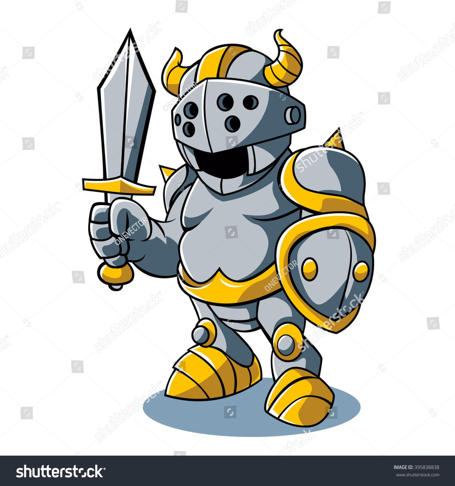 Vector illustration of Cartoon knight Cartoon knight