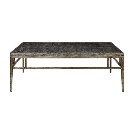 Nota 60 Rectangle Coffee Table In Silver Coffee Table