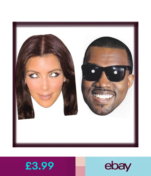 Celebrity Face Mask Kim Kardashian Kanye West Hendo Stag Night Fancy Theme Party Kim Kardashian And Kanye Kim Kardashian Kanye West Celebrity Faces