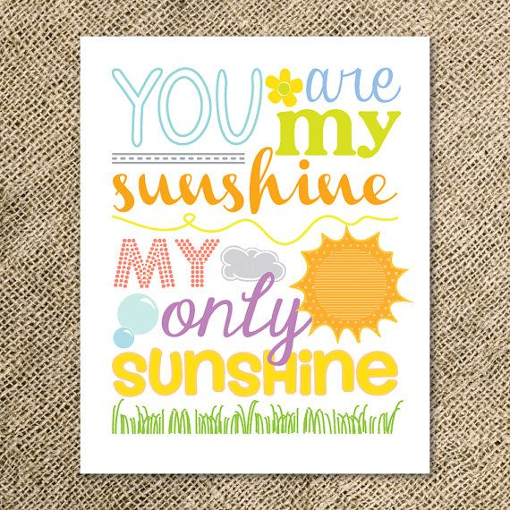 You Are My Sunshine Children's Word Art Print  by kindlyreply, $20.00