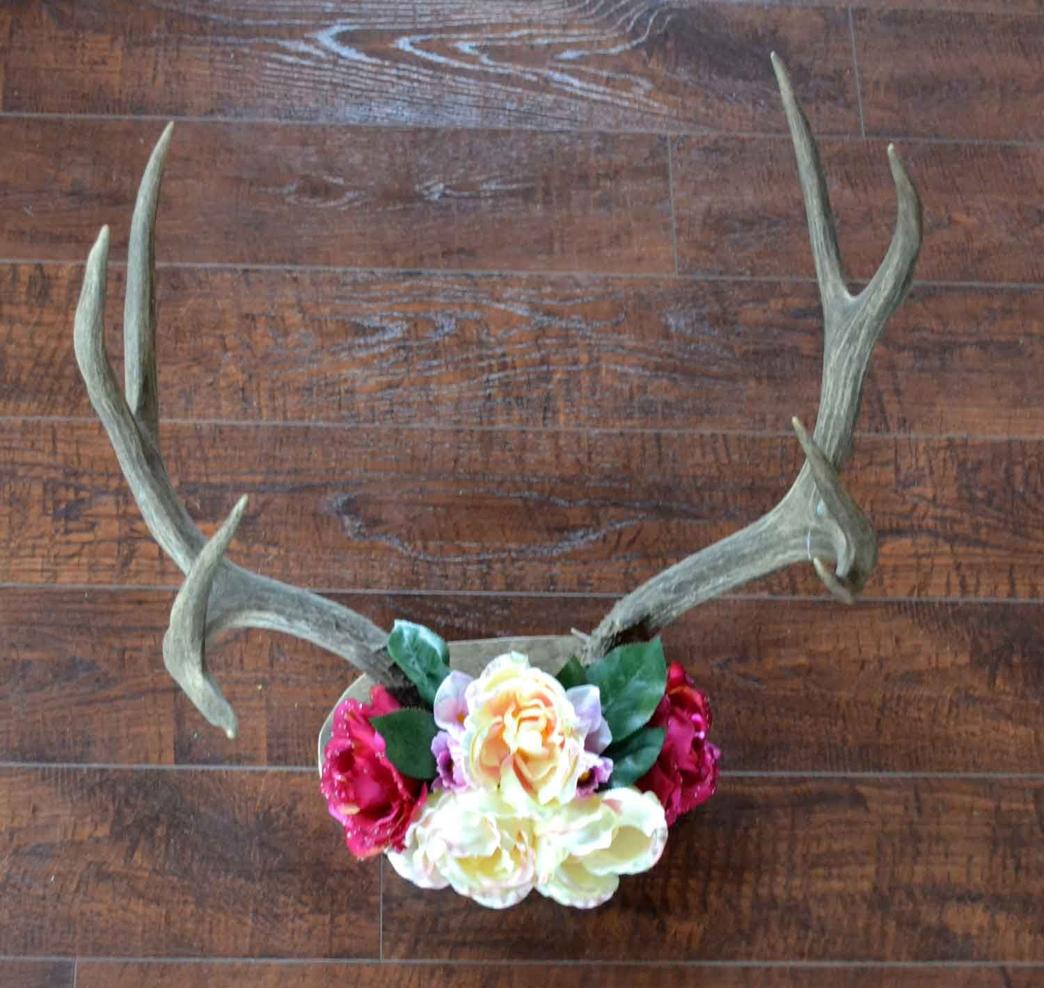 Rustic Chic Antler Decor Diy D I Y Diy Room Decor For
