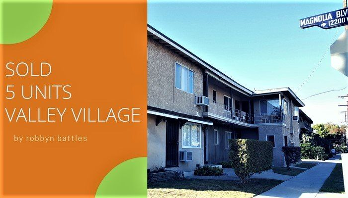 Just SOLD 5 Units Valley Village - https://www.thehouseagent.com/just-sold-5-units-valley-village/ https://www.thehouseagent.com/wp-content/uploads/2017/01/SOLD-5UNITS-IN-VALLEY-VILLAGE.jpg  Just SOLD, 5 Units in Valley Village. Multiple offers. The unit make-up was 1-2+1 and 4- 1+1. Sale price $930,00. I have a list of buyers waiting for income property. If you are looking for an easy transaction and want minimal disruption to your tenants, then let's connect and talk