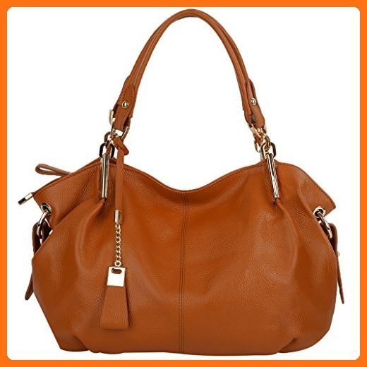 081d438c296a YALUXE Women s Hobo Style Soft Leather Purse Crossbody Shoulder Bag Brown - Hobo  bags (