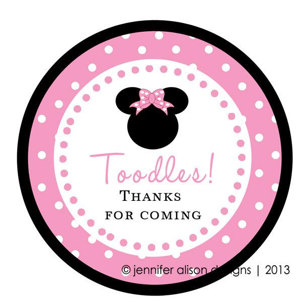 Minnie Or Mickey Mouse Stickers Toodles Cupcake Topper