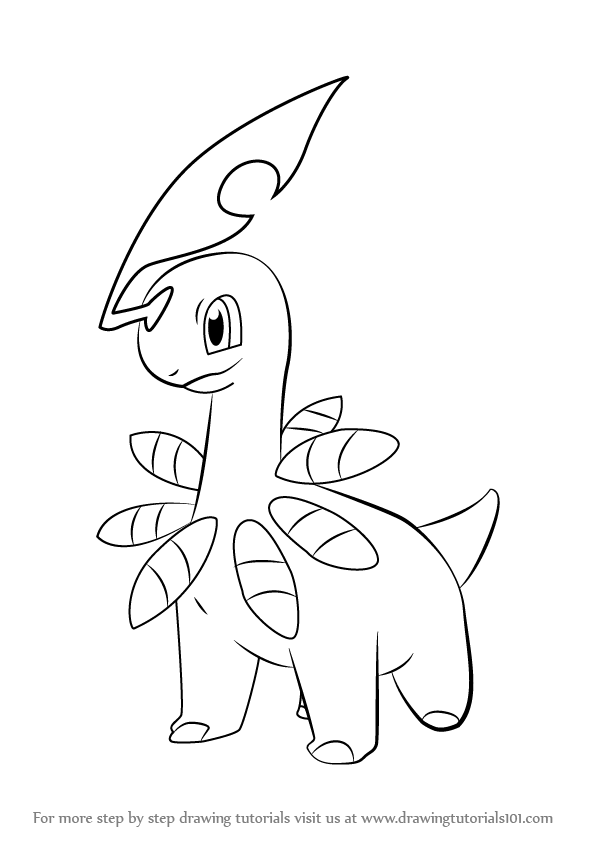 bayleef is a grass type character from pokemon it has yellow color body in - Grass Type Pokemon Coloring Pages