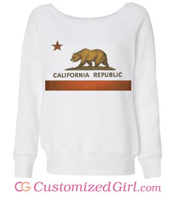 California Represent Rep custom sweater from Customized Girl