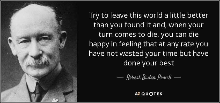 February 12 Birthday Of Scouting And Guiding Founder Robert Baden
