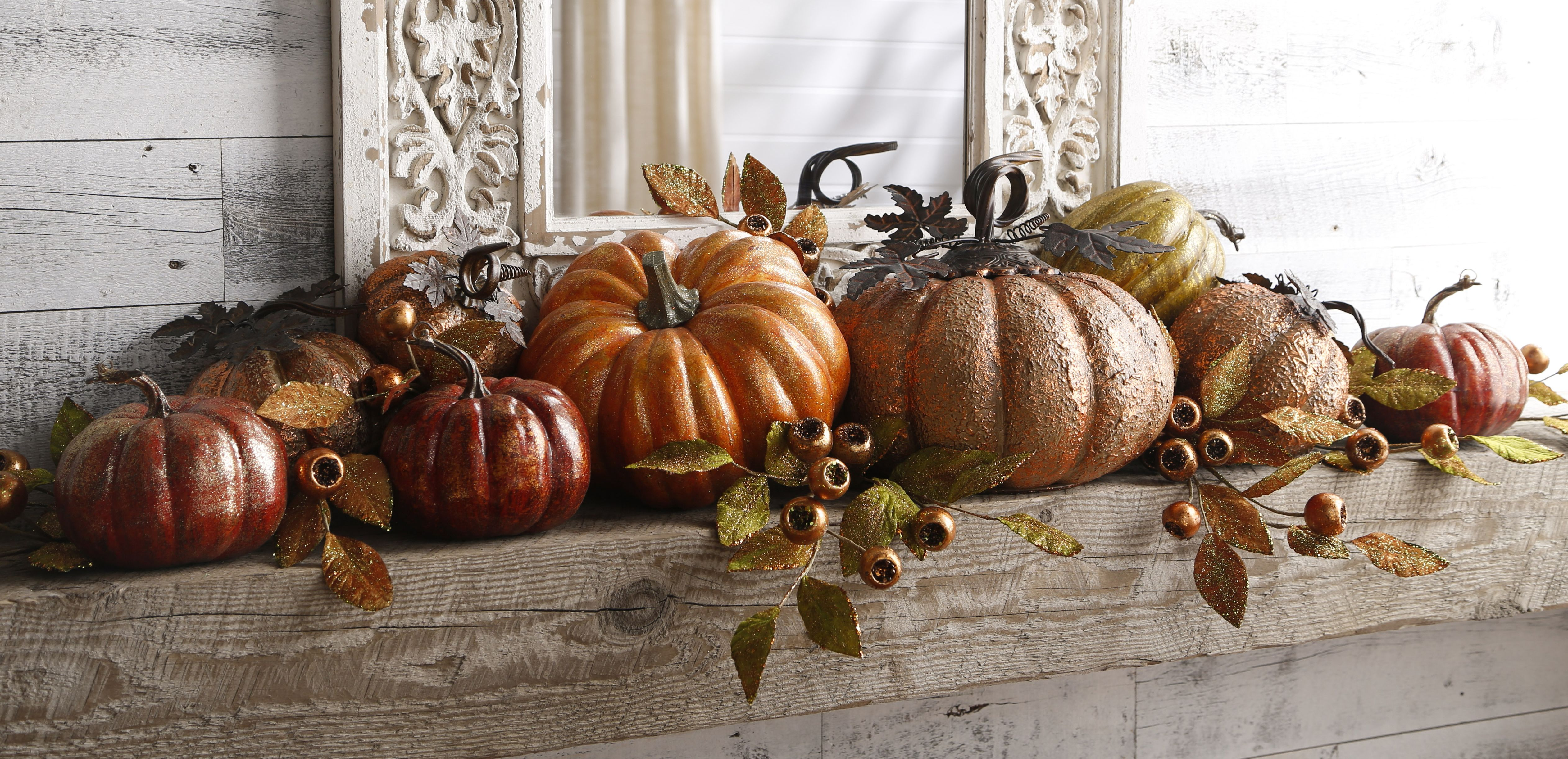 Pumpkin Mantle from the Fall Collection by RAZ Imports