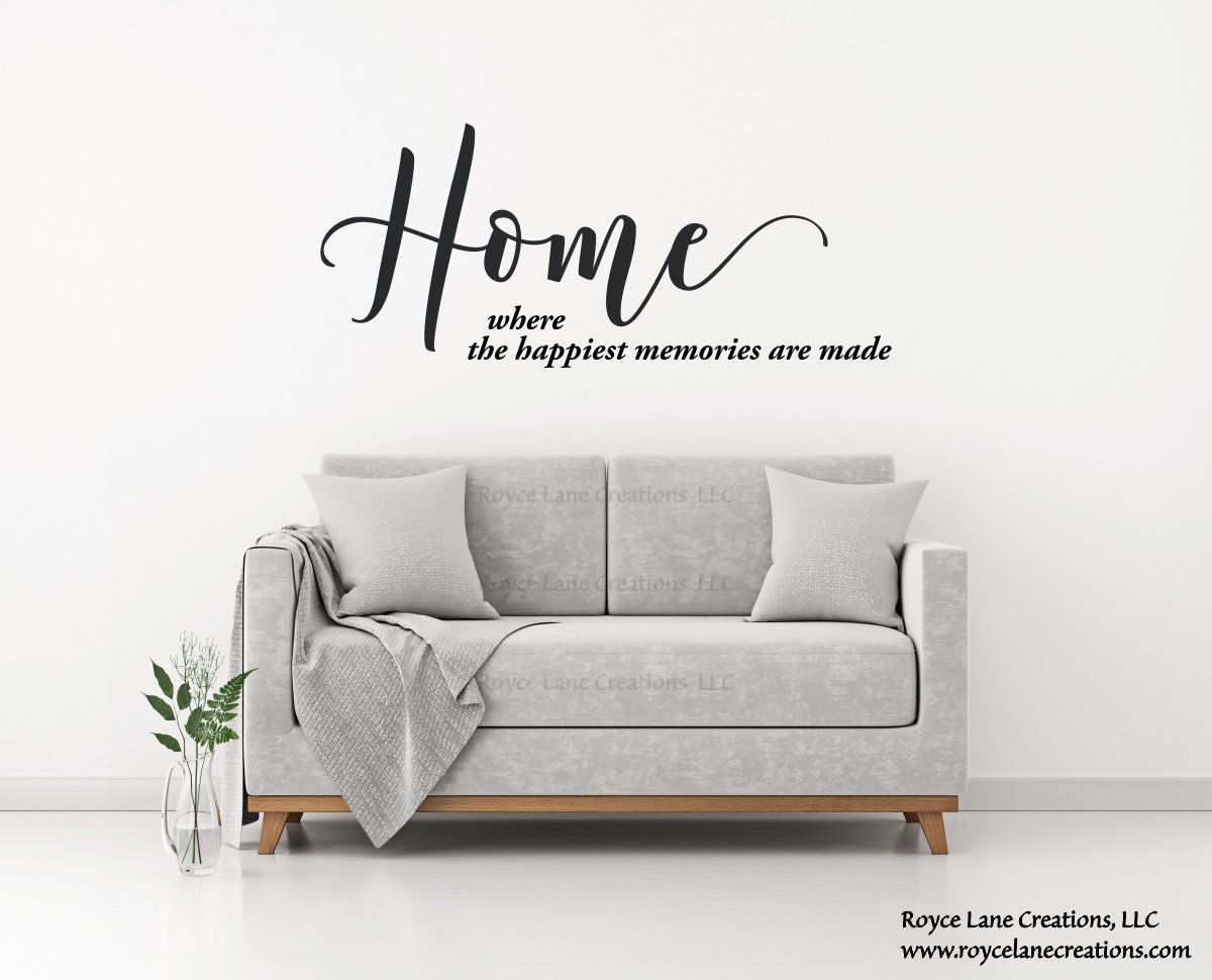 Home Where The Happiest Memories Are Made Wall Decal Home Quote