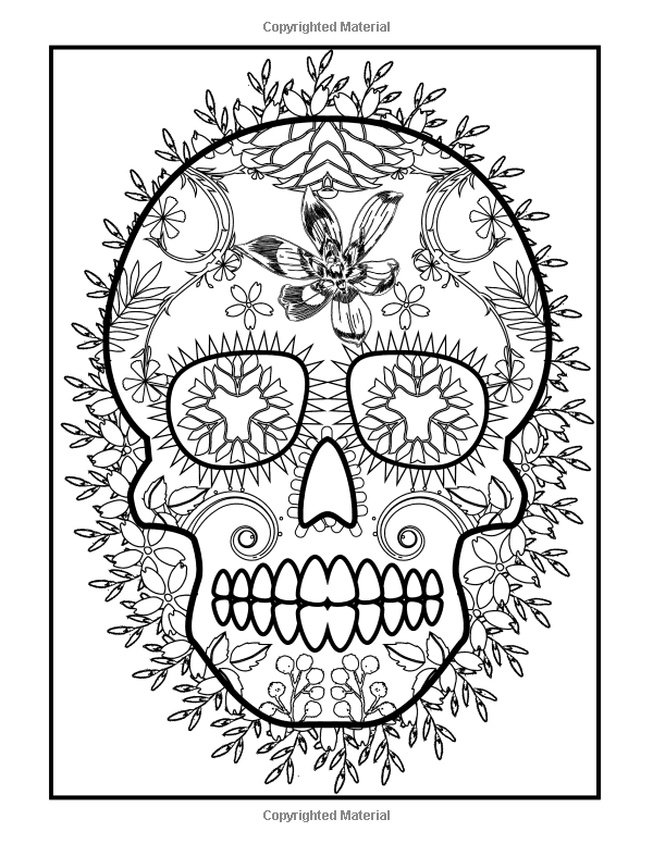 Amazon Com Coloring Books For Grown Ups Dia De Los Muertos Sugar