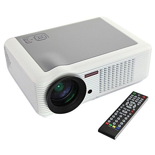 DBPOWER LED 66 Video Projector Home Cinema 854*540 2000 Lumens 2*USB YPBPR VGA HDMI AV for School Teaching and...