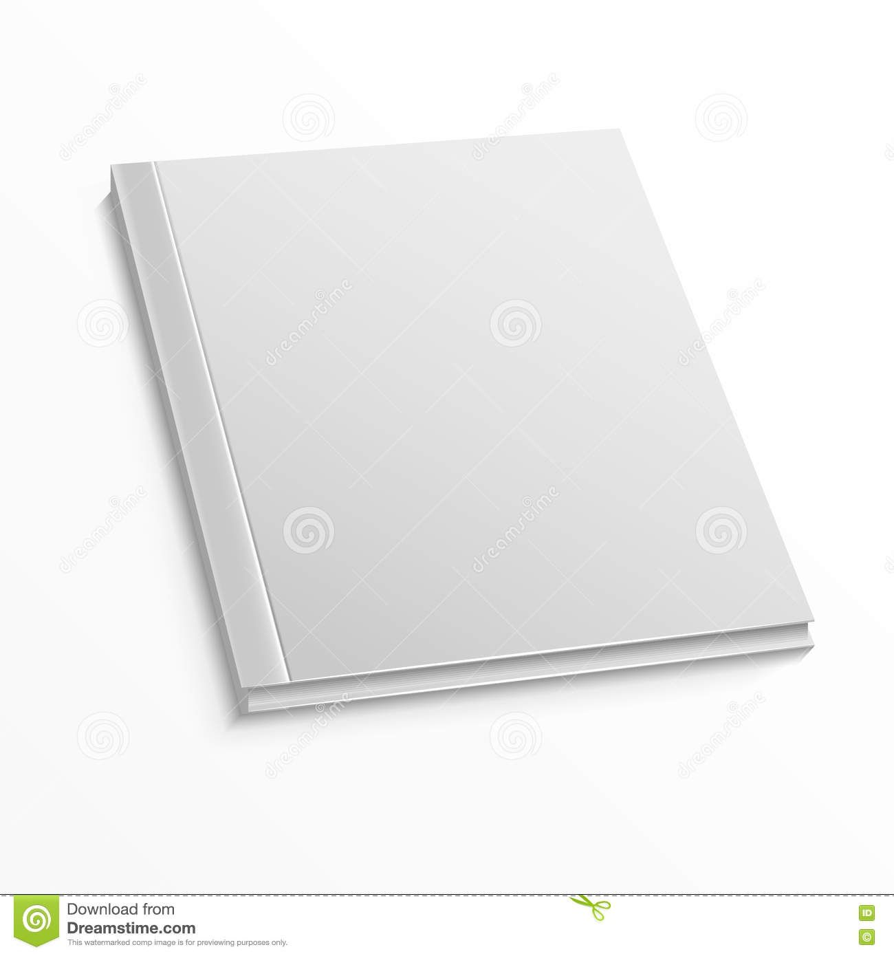 Blank Magazine Cover Template On White Background Vector Mock Up