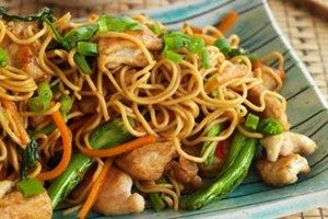 noodles shanghai fried chicken stir noodle fry