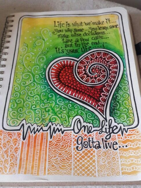 One life ...heart doodle