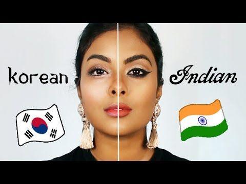 Indian Makeup Vs Korean Makeup Korean Beauty Tips Indian Makeup Natural Indian Makeup