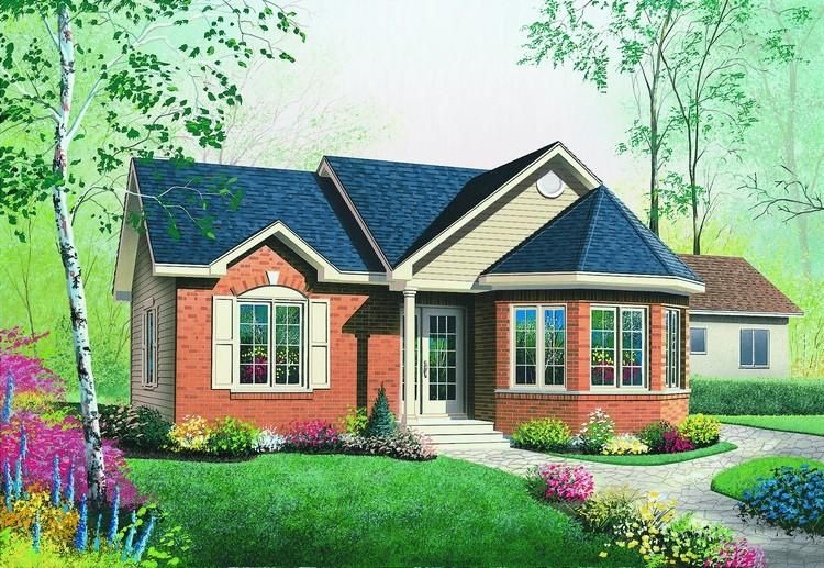 House Plan 034 00251 Narrow Lot Plan 994 Square Feet 2 Bedrooms 1 Bathroom In 2021 Victorian House Plans Craftsman Bungalow House Plans Country House Plans