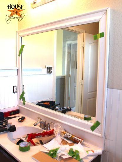 The Kids Bathroom Mirror Gets Framed House Of Hepworths