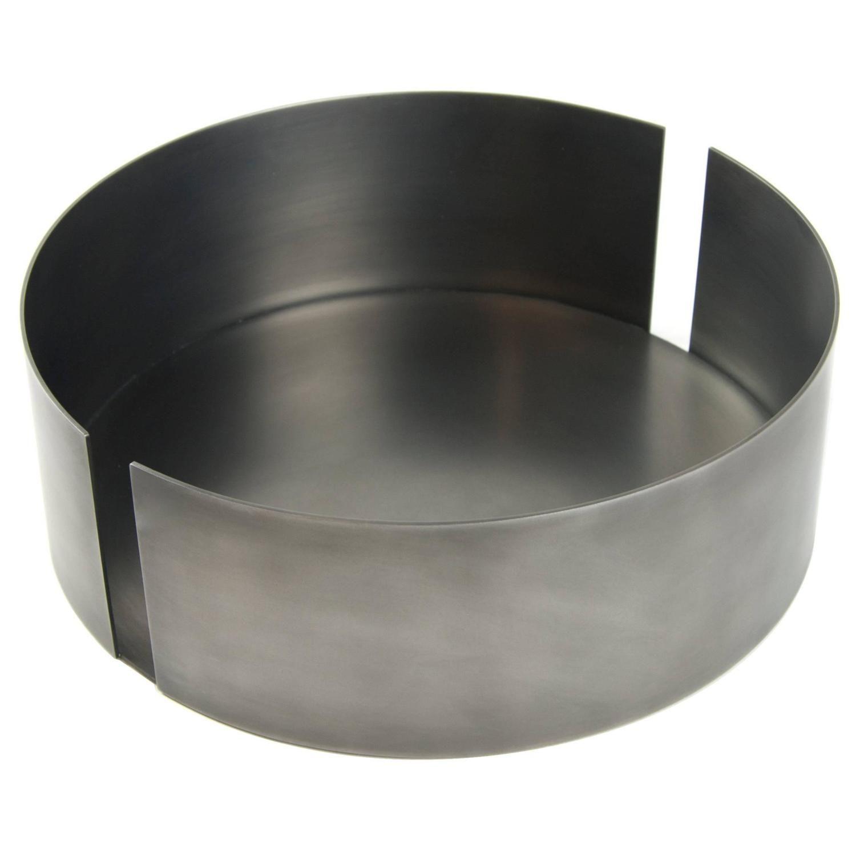 Contemporary Decorative Dark St Steel Medium Bowl Vessel Centerpiece In Stock Stainless Steel Types Centerpiece Bowl Metal Bowl