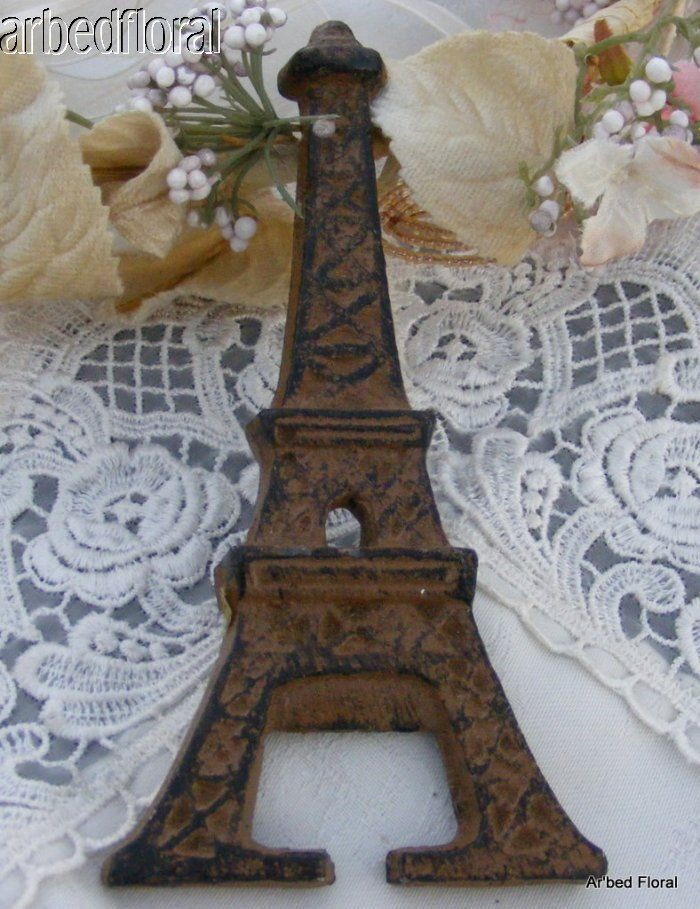 Cast Iron Eiffel Tower French Bottle Opener Paris Decor Beer Bottle Opener in Other | eBay