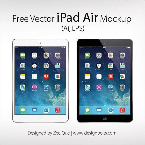 Free Vector Apple Ipad Air Mockup In Ai Eps Format Ipad Mini