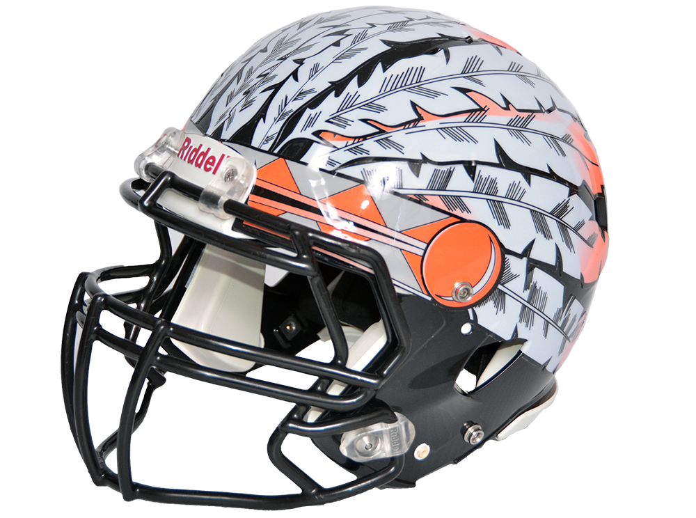 b037608e Cover your #helmet with #extreme #headdress #decals from #Sportdecals! Easy  application with thick vinyl to stand up on the field! Order today  800-435-6110 ...