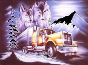 Fantasiebilder Wolf