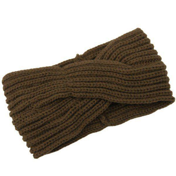 Women Girl Crochet Knit Cross Wide Headband Wool Hair Accessories