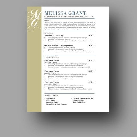 Products One Page Resume Template Cover Letter For Resume One Page Resume