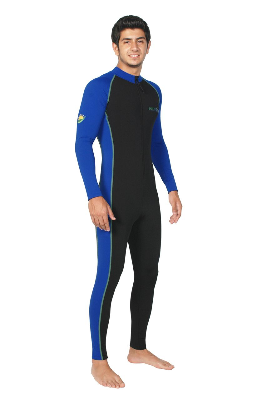 d305b303e Men Full Body Stinger Swimsuit Dive Skin UPF50+ Black Royal Lime (Chlorine  Resistant) - EcoStinger