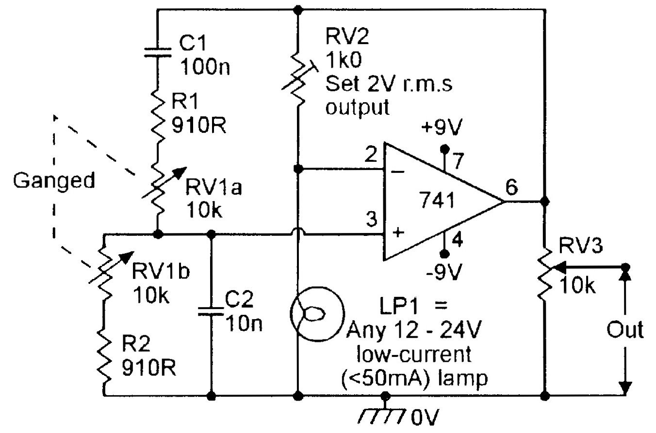 150hz 1 5khz Lamp Stabilized Wien Bridge Oscillator
