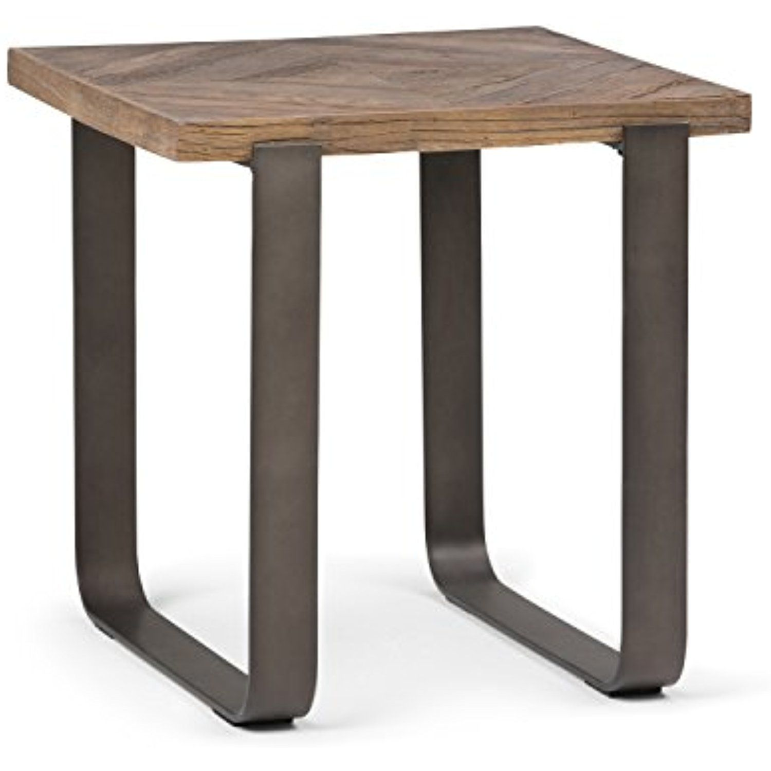 Simpli Home Peton Aged Elmwood End Side Table Distressed Java Learn More By Visiting The Image Link This Is An Af Wood End Tables Simpli Home Wood Inlay