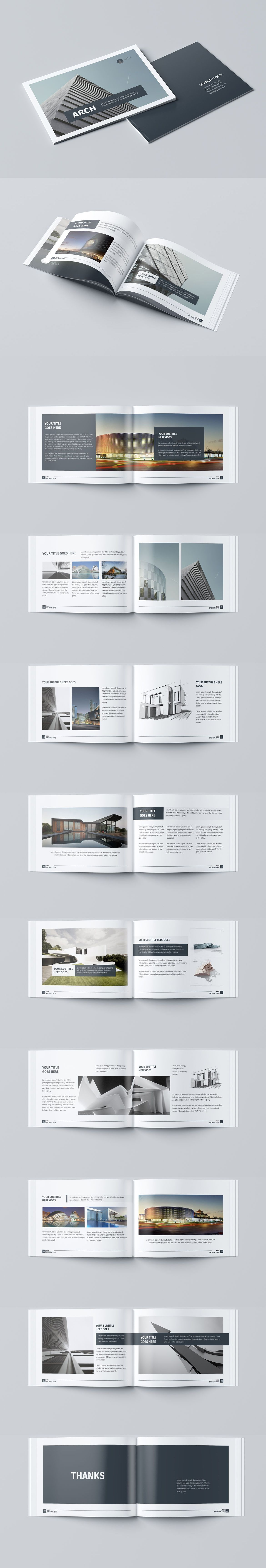 Modern Architecture Brochure 24 Pages A4 & A5 Template InDesign INDD ...