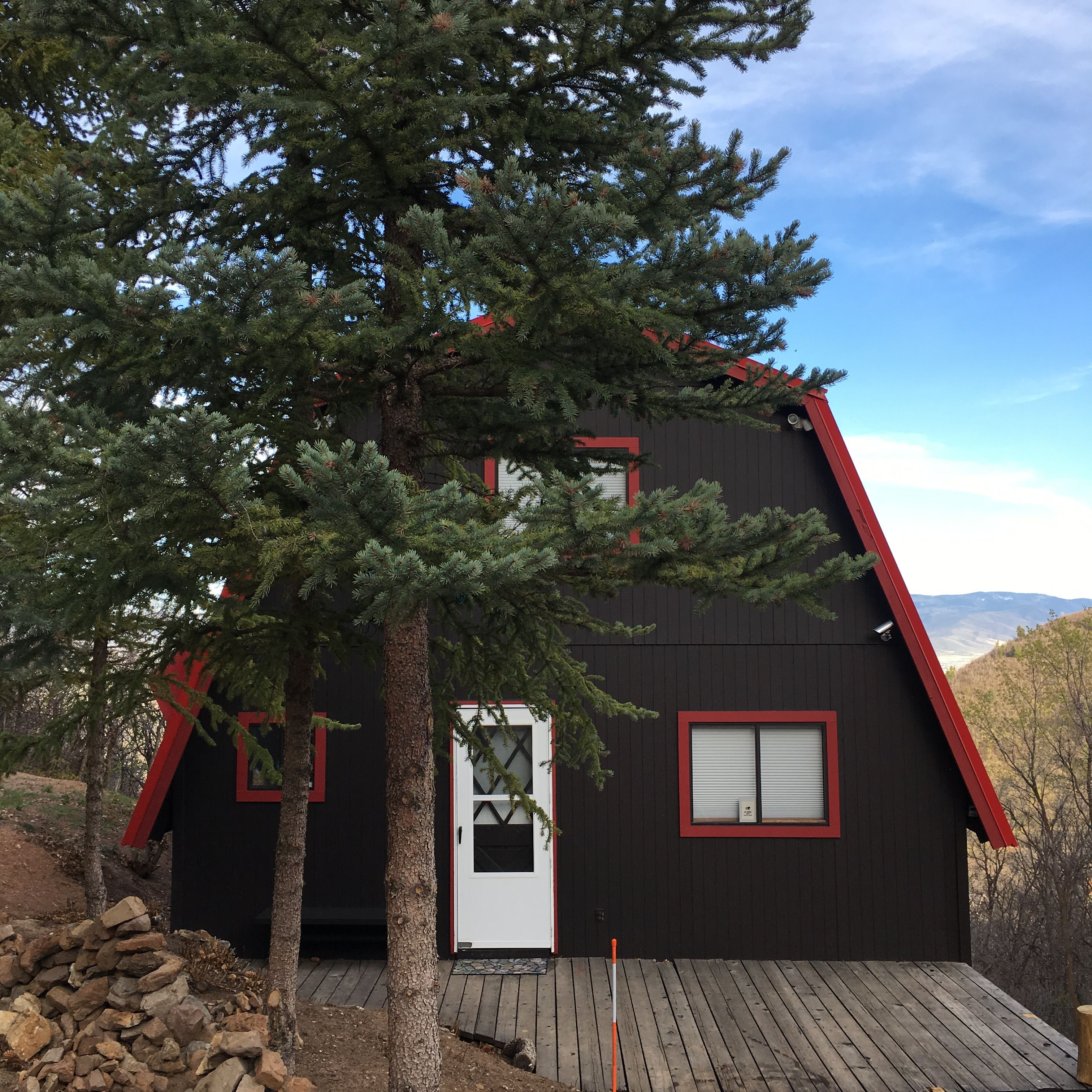 Dutch style mountain cabin in midway utah mountain
