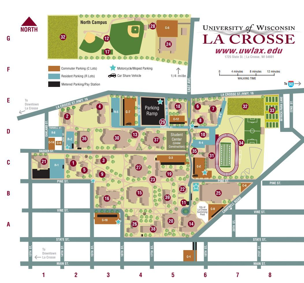 Campus Map Campus And Other Maps Pinterest La Crosse And - Csu campus map