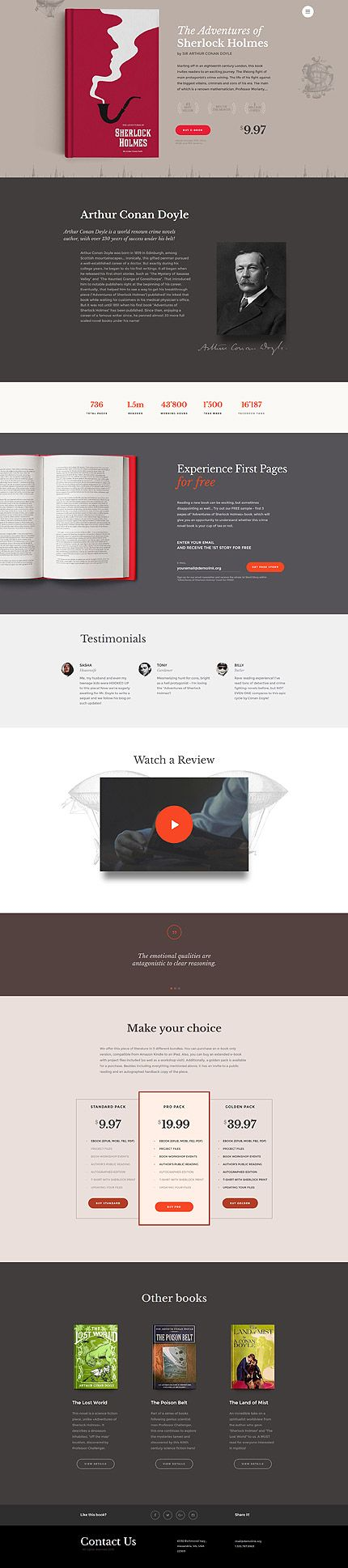 Book Presentation & Release #website #template. #themes #business ...
