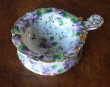 Beautiful Vintage Tea Strainer - Violets