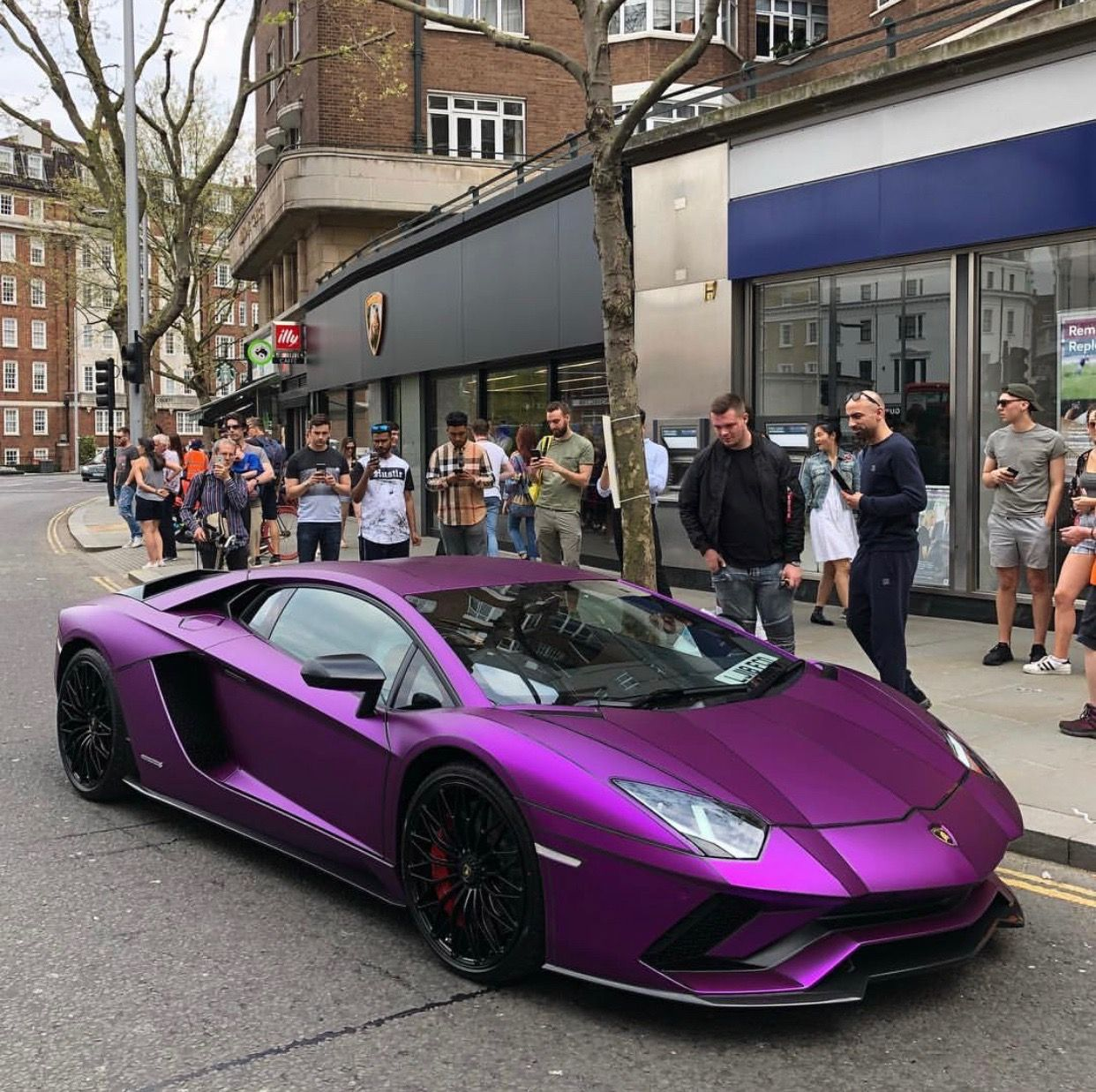 Lamborghini Aventador S Painted In Nero And Wrapped In Satin Purple