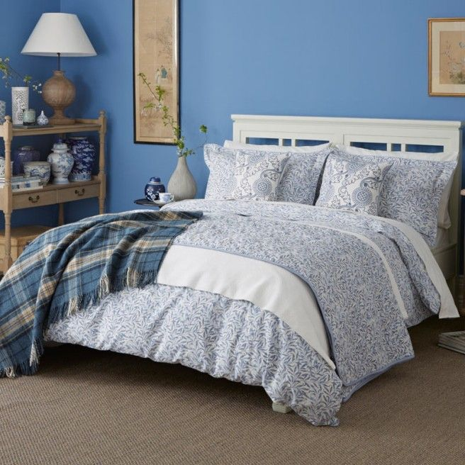 Willow Bough China Blue Bedding By William Morris At Bedeck Home Blue Bedroom Blue Bedding Tiffany Blue Bedding