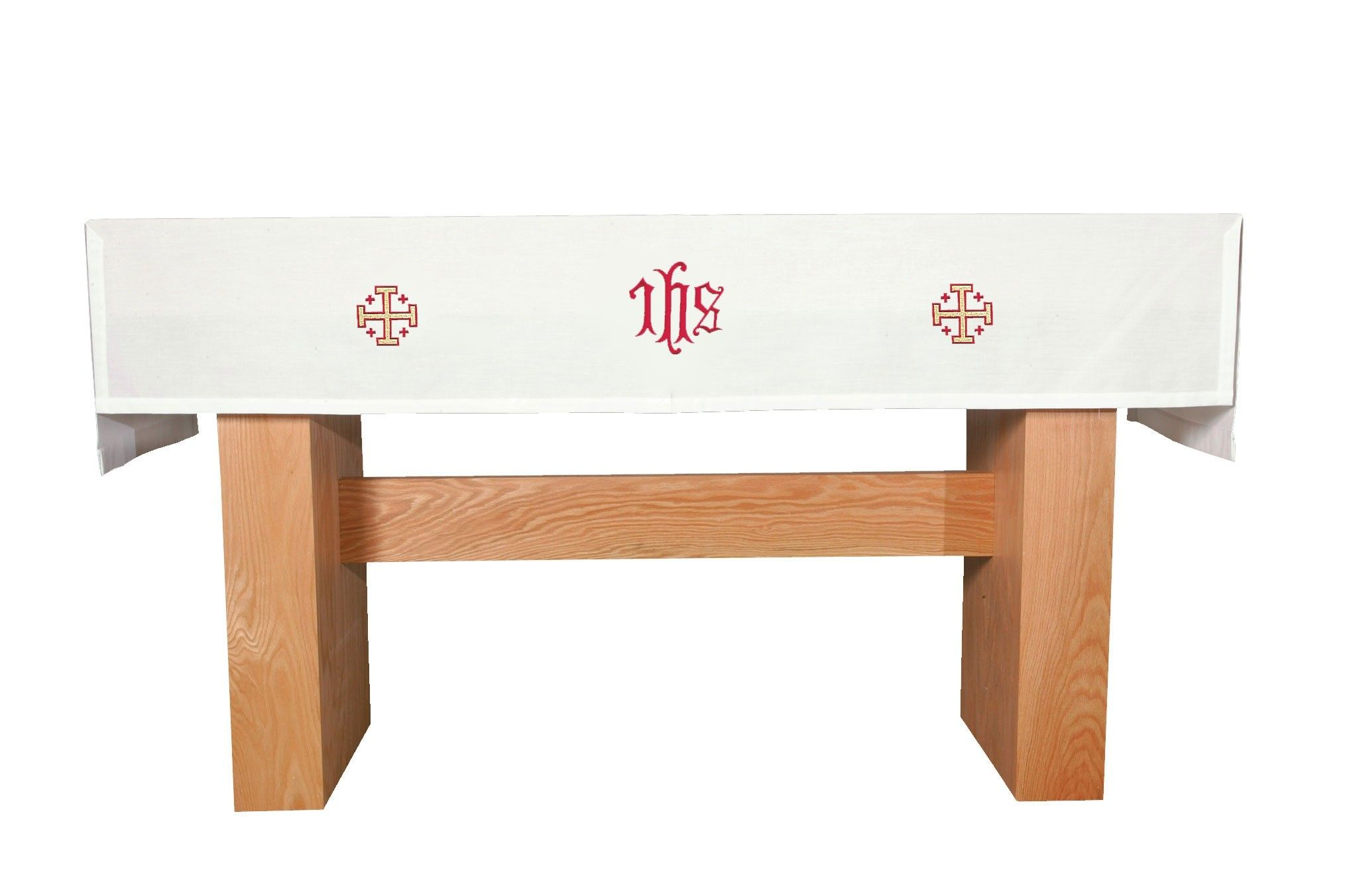 183 & IHS Jerusalem Cross Communion Table Cover features washable fabric ...
