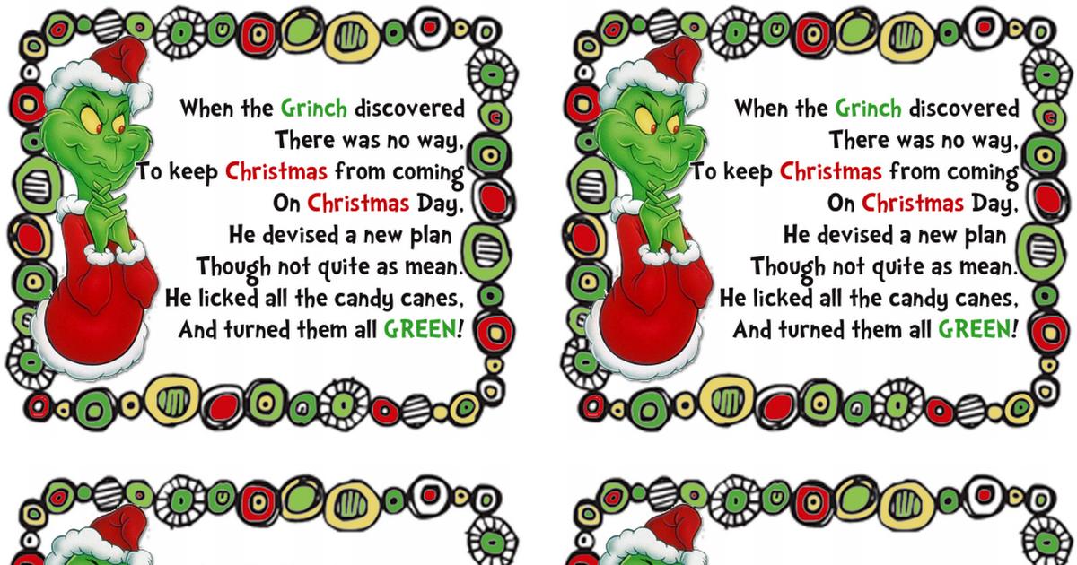 GRINCHLABELS1.pdf Grinch christmas, Grinch christmas